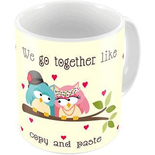 Little India Cream Color Designer Romantic Print Coffee Mug 747