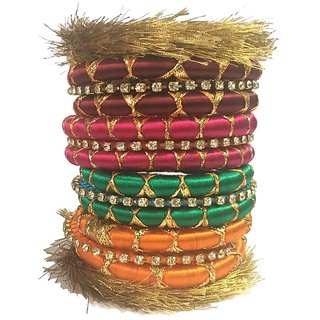 Kuhuk Plastic Bangle Set(Pack of 14)