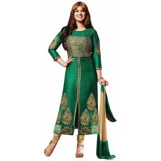 Ayesha Takia Exclusive Designer Green Churidar Salwar Kameez
