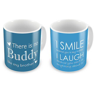 Emotional Printed Quotes Mugs Pair For Brothers 700