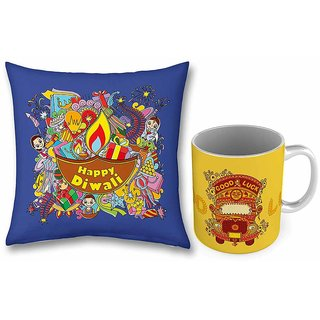 Good Luck Truck Printed Coffee Mug n Cushion Combo 751