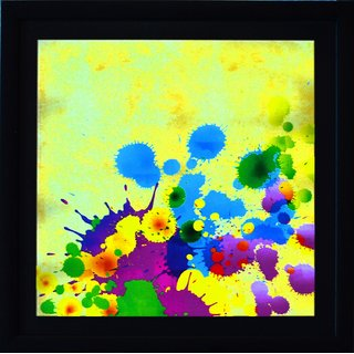 eCraftIndia Colorful Paint Spots Satin Matt Textured UV Art Painting