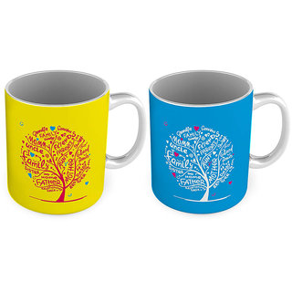 Relationship Tree Print Delightful Coffee Mug Pair 789