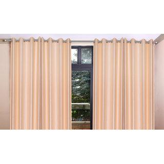 iLiv Combo Of 2 Door  2 Window Curtains - black7ft5ft