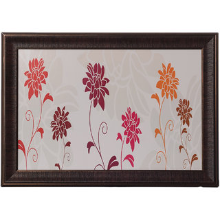 eCraftIndia Botanical Flowers Satin Matt Textured UV Art Painting