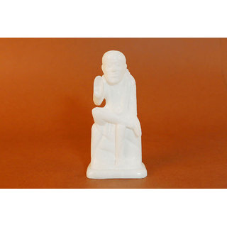 Creative Craft Marble Sai Baba 4.5 Statue Home Decorative Handicraft Gift