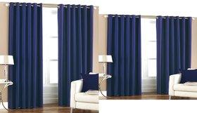 iLiv Buy 2 Door and Get 2 Window Curtains - brownchiku7ftand5ft