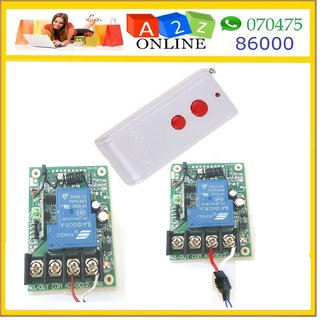 1Ch Wireless Remote Medium Range 2Pc.Transmitters  12V DC Learning Receiver 30A
