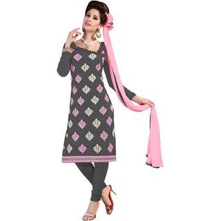 Khushali Presents Embroidered Georgette Dress Material (Dark Grey) MFRPRN26009