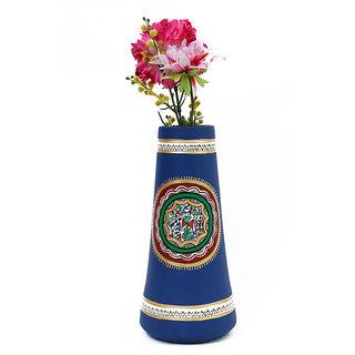 Creative Craft Terracotta A Shape Vase Hand Painted Home Decorative Handicraft Gift