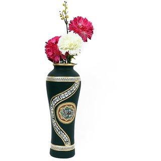 Creative Craft Terracotta Round Shape Vase Hand Painted Home Decorative Handicraft Gift