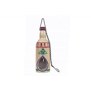 Creative Craft Terracotta Bottle Shape Hanging Tea Light Holder Home Decorative Handicraft Gift