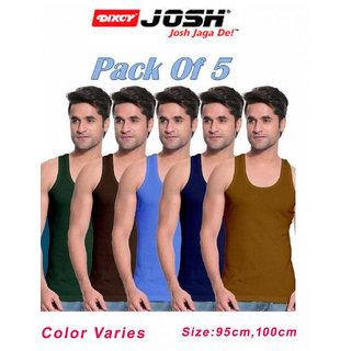 Dixcy Josh Mens multicolor vest RN 95/100cm (set of 5 pc)