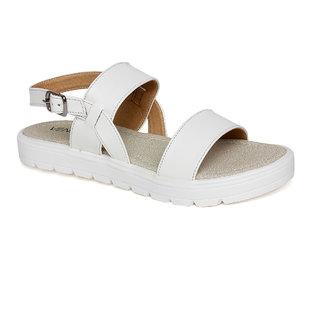 Vendoz Women's White Sandals