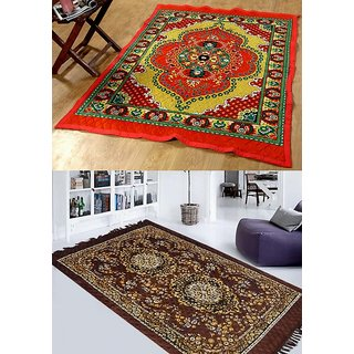 K decor set of 2 carpet