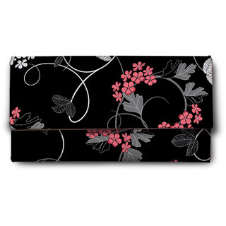 ShopMantra black rose  Multicolor Ladies Wallet LW00000224