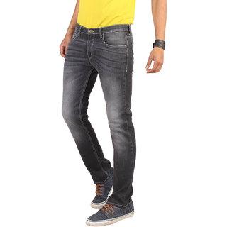 Lee Black Mid Rise Regular Fit Jeans For Men