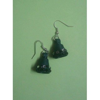 Paper Quelling Jhumki For Women'S (Green)
