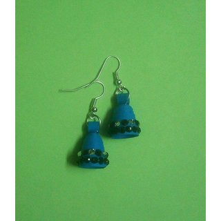 Paper Quelling Jhumki For Women'S (Royal Blue)