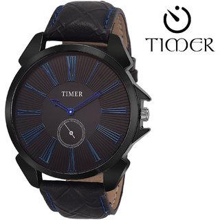 Timer Analog Black Dial Men'S Watch Tc-6000