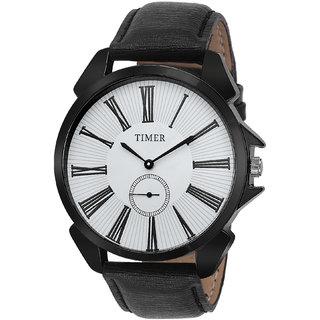Timer Analog White Dial Men'S Watch Tc-6001