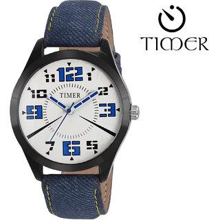 Timer Analog White Dial Men'S Watch Tc-6003