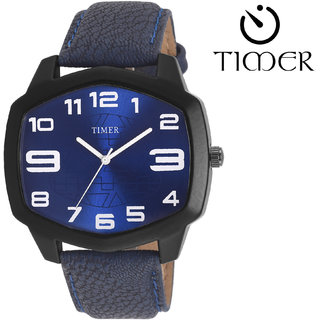 Timer Analog Blue Dial Men'S Watch Tc-6052