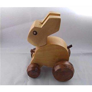 Retro Wooden Made Rabbit Toy.