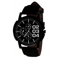 DCH IN-06 Black Case Analog Watch For Men's