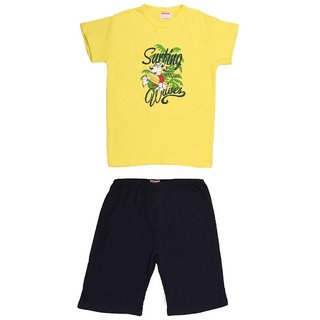 Soko Mesh Kids Boys Yellow Shorts Set