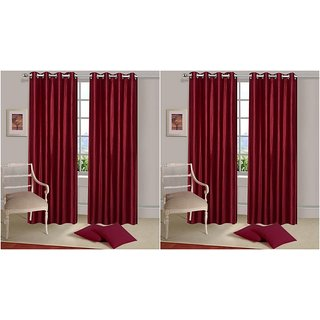 K decor Set of 2 Door Curtains And Get (set of 2 Window Curtains FREE) (2DW-09)