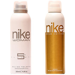 Nike Deodorants N5th Element and Gold Edition for Women 200ml Each (Pack of 2)
