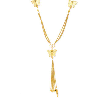 New Fashion Jewellery GOLD PLATED MULTI CHAIN WITH FLOWER DESIGN WIRE LEYERD FULL NECKACE