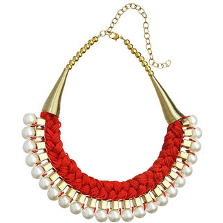 New Fashion Jewellery New Fashion Jewellery Red Alloy Necklace