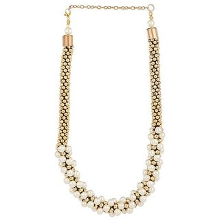 New Fashion Jewellery White Designer Preal Necklace