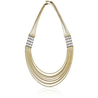 New Fashion Jewellery Golden Alloy Designer Necklace
