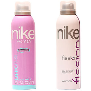Nike Deodorants Fission and Original for Women 200ml Each (Pack of 2)