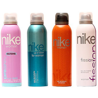 Nike Deodorants Original Up or down Orange and fission for Women 200ml Each (Pack of 4)