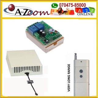 2Ch DC 12V  Wireless Remote Switch Learning With Very Long Range 2Pc. Transmitters