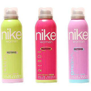Nike Deodorants Original Trendy Casual for Women 200ml Each (Pack of 3)