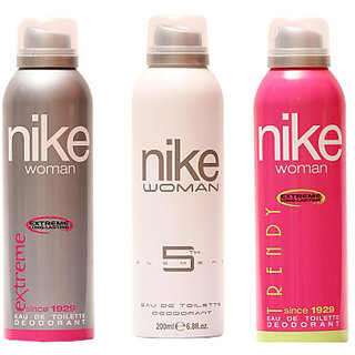 Nike Deodorants Extreme 5th Element Trendy for Women 200ml Each (Pack of 3)