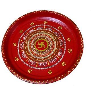 Beautiful Handmade Sathiya Pooja Thali With Stunning Designs