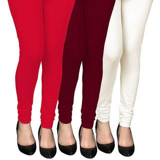 COCAKART - Legging Red Maroon Off White