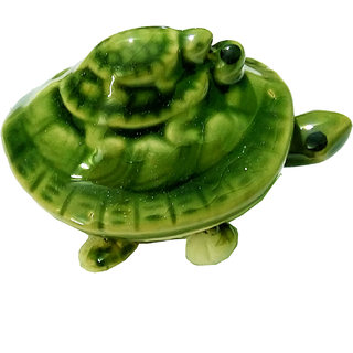 Porcelain Vastu Feng Shui Green Tortoise Turtle