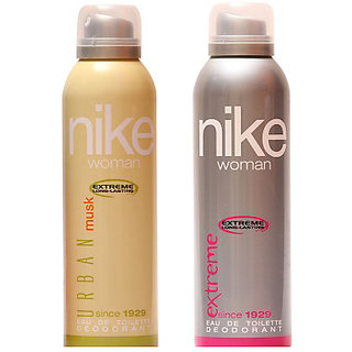 Nike Deodorants Urban Musk Extreme for Women 200ml Each (Pack of 2)