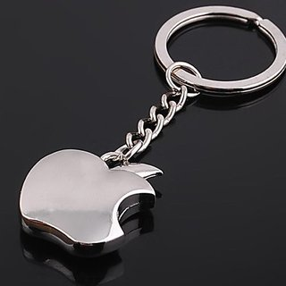 customized Full Metallic Apple Key Chain Car Bike Ring Stylish Keyring Metal