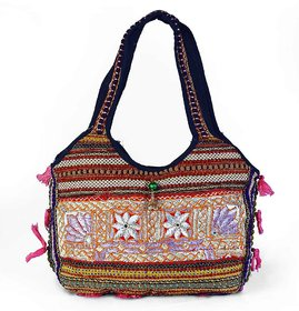 Hand Embroidered Beautiful Lace Work Shoulder Bag 150