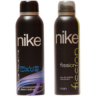 Nike Deodorants Blue Wave and Fission for men 200ml Each (Pack of 2)
