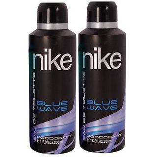 Nike Deodorants 2 Blue Wave for men 200ml Each (Pack of 2)