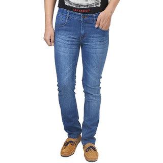 Trendy Trotters Blue Regular Fit Jeans for Men